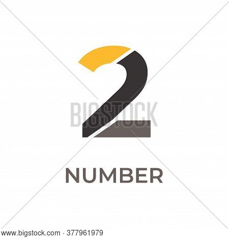 Number 2 Logo Design. Number 1 Vector Illustration. Number 2 Icon Simple Vector Sign And Modern Symb