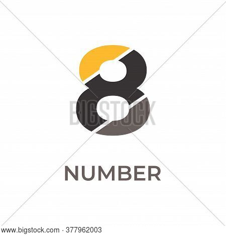 Number 8 Logo Design. Number 8 Vector Illustration. Number 8 Icon Simple Vector Sign And Modern Symb