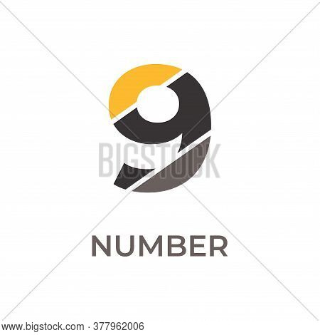 Number 9 Logo Design. Number 9 Vector Illustration. Number 9 Icon Simple Vector Sign And Modern Symb