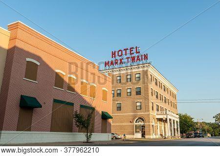 Hannibal Usa - September 4 2015; Hotel Mark Twain Building Built In Renaissance Revival Style Carrie