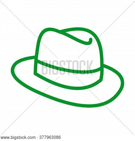 Fedora Hat Sketch Icon For Web, Mobile And Infographics. Hand Drawn Fedora Hat Icon. Fedora Hat Vect