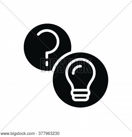 Black Solid Icon For Questions-and-answers Question Answers Query Aknowledgement Interaction Searchi