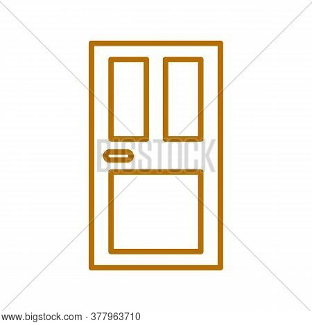 Front Door Vector Sketch Icon Isolated On Background. Hand Drawn Front Door Icon. Front Door Sketch