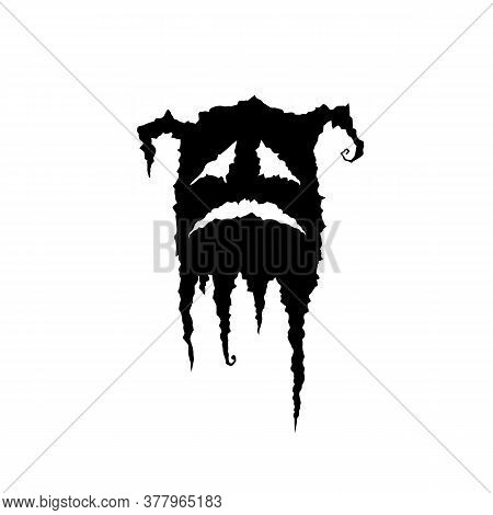 Ghost. Vector Illustration. Isolated. Demon On White. Shadow.