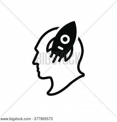 Black Solid Icon For Imagination Imaginative Faculty Creative Power Fancy Interest Fascination Atten