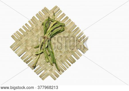 Yardlong Bean Or Pea Bean Isolated On White Background
