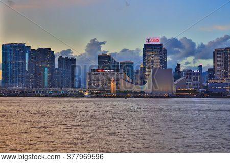 19 June 2020 The Kowloon Waterfront Promenade At Hong Kong