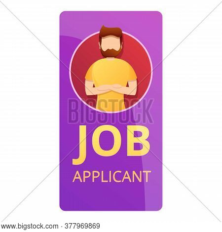 Job Applicant Icon. Cartoon Of Job Applicant Vector Icon For Web Design Isolated On White Background