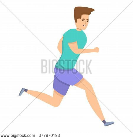 Running Boy Icon. Cartoon Of Running Boy Vector Icon For Web Design Isolated On White Background