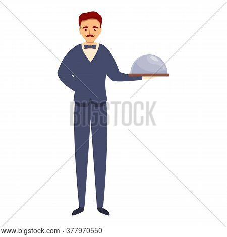 Dish Butler Icon. Cartoon Of Dish Butler Vector Icon For Web Design Isolated On White Background