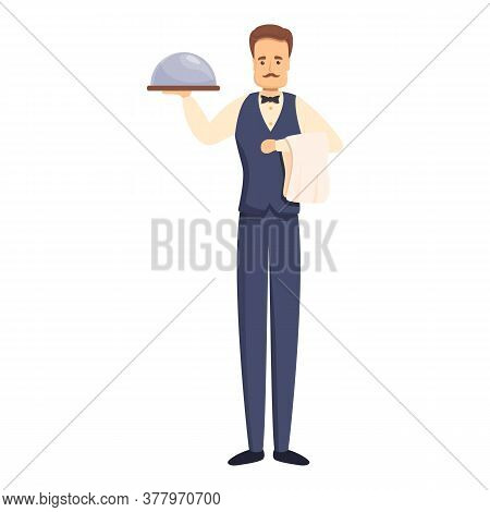 French Butler Icon. Cartoon Of French Butler Vector Icon For Web Design Isolated On White Background