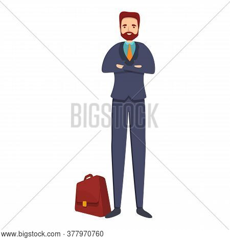 Office Bank Teller Icon. Cartoon Of Office Bank Teller Vector Icon For Web Design Isolated On White