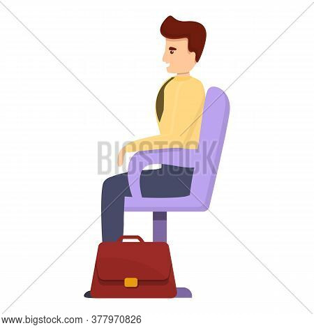 Bank Teller Client Icon. Cartoon Of Bank Teller Client Vector Icon For Web Design Isolated On White