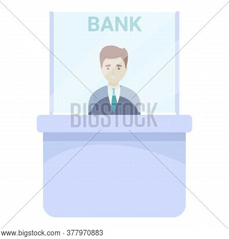 Bank Teller Operation Icon. Cartoon Of Bank Teller Operation Vector Icon For Web Design Isolated On