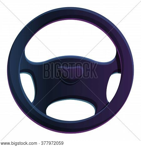 Garage Steering Wheel Icon. Cartoon Of Garage Steering Wheel Vector Icon For Web Design Isolated On