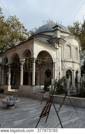 Istanbul,turkey - November 4, 2019:an Old Building On The Premises Of The Society For The Preservati