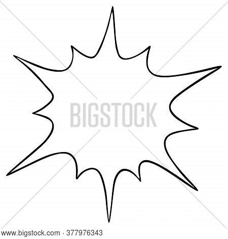 Figured Spot. Frame In The Form Of A Blot. Explosion. Place For Your Text. Vector Illustration. Outl