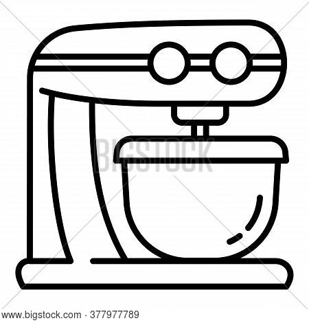Cook Food Processor Icon. Outline Cook Food Processor Vector Icon For Web Design Isolated On White B