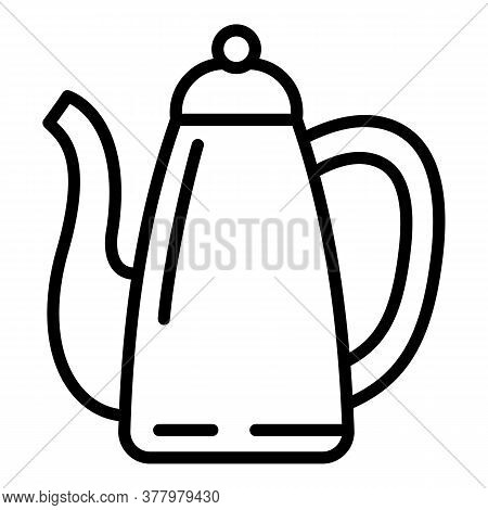 Turkish Coffee Pot Icon. Outline Turkish Coffee Pot Vector Icon For Web Design Isolated On White Bac