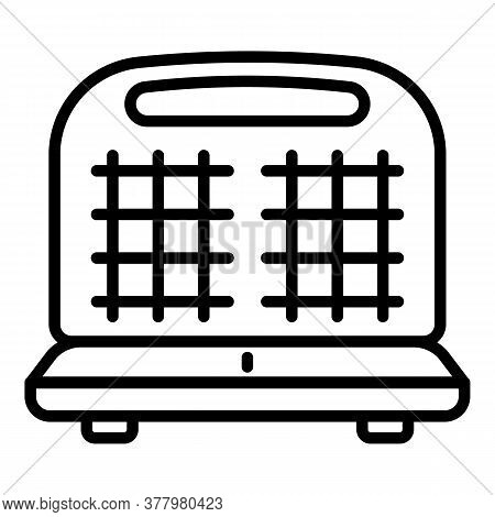 Waffle-iron Icon. Outline Waffle-iron Vector Icon For Web Design Isolated On White Background