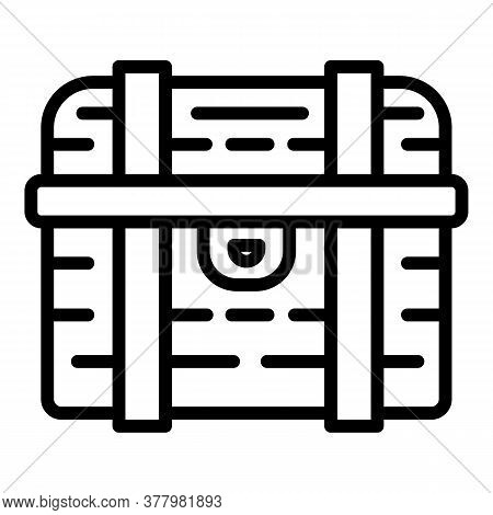 Treasure Dower Chest Icon. Outline Treasure Dower Chest Vector Icon For Web Design Isolated On White
