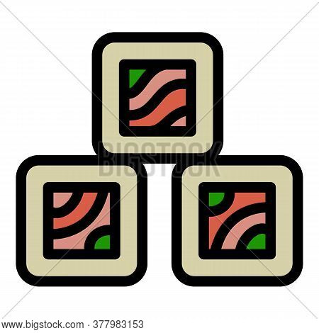 Sushi Roll Icon. Outline Sushi Roll Vector Icon For Web Design Isolated On White Background