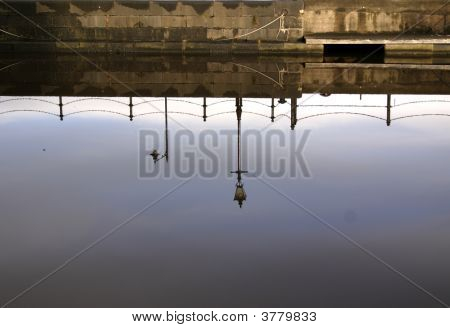 Reflections In Water At Leith Docks, Scotland