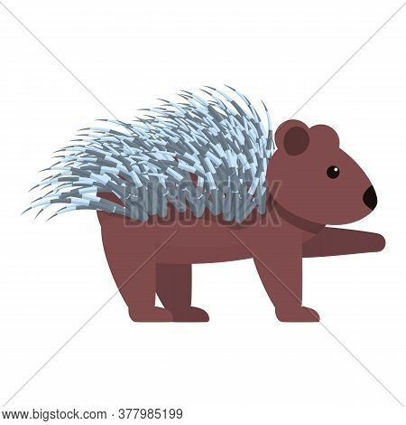 Porcupine Animal Icon. Cartoon Of Porcupine Animal Vector Icon For Web Design Isolated On White Back