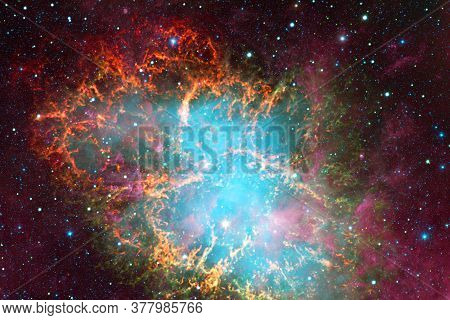 Cluster Of Stars. Starfield. Nebula. Elements Of This Image Furnished By Nasa.