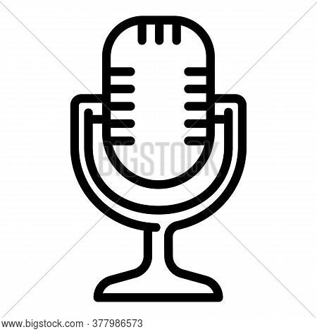 Studio Microphone Icon. Outline Studio Microphone Vector Icon For Web Design Isolated On White Backg
