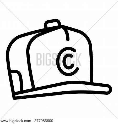 Hiphop Baseball Cap Icon. Outline Hiphop Baseball Cap Vector Icon For Web Design Isolated On White B