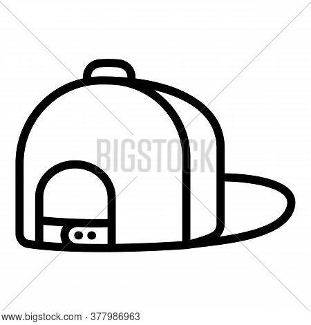 Rapper Baseball Cap Icon. Outline Rapper Baseball Cap Vector Icon For Web Design Isolated On White B