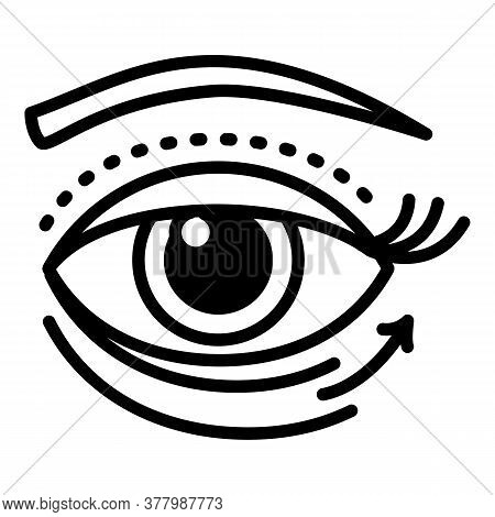 Eye Lifting Facial Icon. Outline Eye Lifting Facial Vector Icon For Web Design Isolated On White Bac