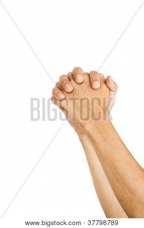 Praying Hands Or Begging Gestures