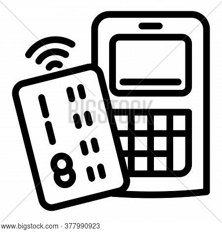 Wireless Payment Icon. Outline Wireless Payment Vector Icon For Web Design Isolated On White Backgro