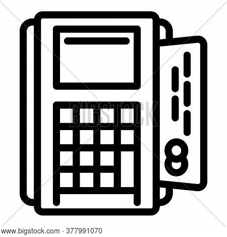 Terminal Machine Icon. Outline Terminal Machine Vector Icon For Web Design Isolated On White Backgro