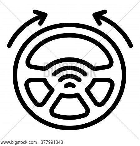 Self Driving Vehicle Icon. Outline Self Driving Vehicle Vector Icon For Web Design Isolated On White