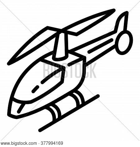 Military Helicopter Icon. Outline Military Helicopter Vector Icon For Web Design Isolated On White B