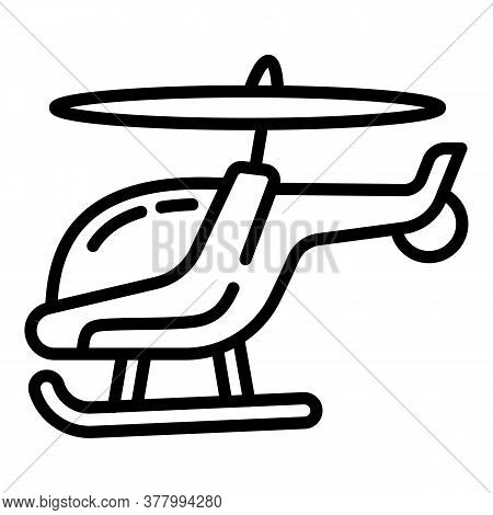 Modern Helicopter Icon. Outline Modern Helicopter Vector Icon For Web Design Isolated On White Backg