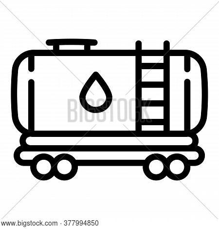Wagon Tank Icon. Outline Wagon Tank Vector Icon For Web Design Isolated On White Background