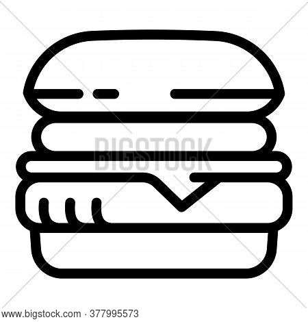 Tasty Burger Icon. Outline Tasty Burger Vector Icon For Web Design Isolated On White Background