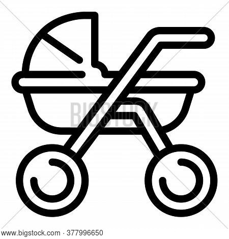 Baby Carriage Icon. Outline Baby Carriage Vector Icon For Web Design Isolated On White Background
