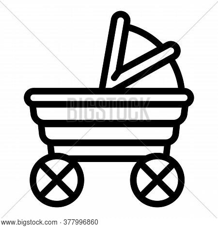 Baby Buggy Icon. Outline Baby Buggy Vector Icon For Web Design Isolated On White Background
