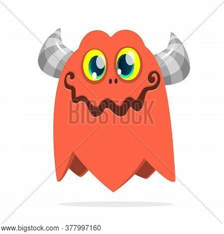 Funny Cartoon Monster. Halloween Illustration