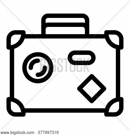 Luggage Icon. Outline Luggage Vector Icon For Web Design Isolated On White Background