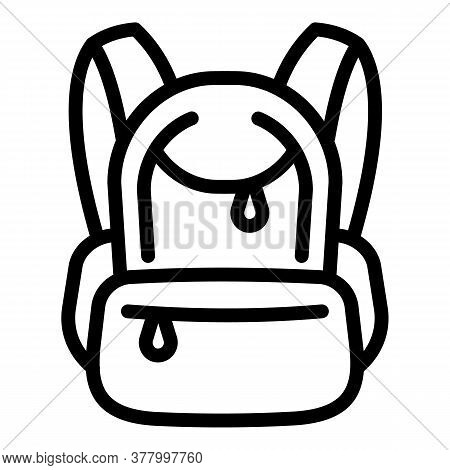 Rucksack Icon. Outline Rucksack Vector Icon For Web Design Isolated On White Background