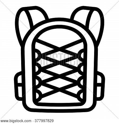 Student Textile Backpack Icon. Outline Student Textile Backpack Vector Icon For Web Design Isolated
