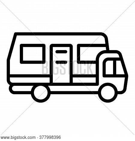 Motorhome Bus Icon. Outline Motorhome Bus Vector Icon For Web Design Isolated On White Background