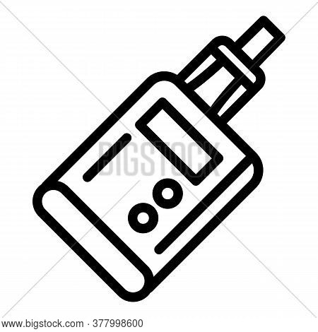 Electronic Vape Icon. Outline Electronic Vape Vector Icon For Web Design Isolated On White Backgroun