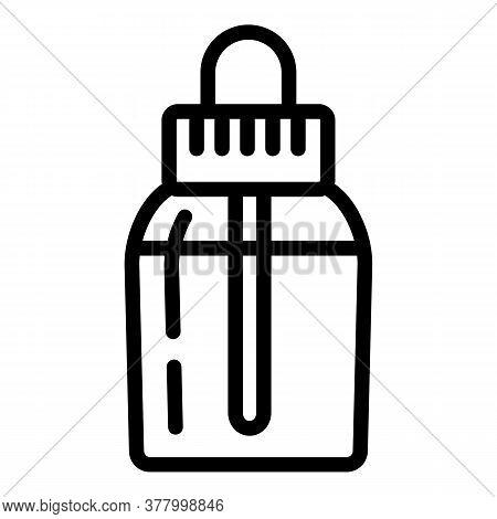 Vape Liquid Bottle Icon. Outline Vape Liquid Bottle Vector Icon For Web Design Isolated On White Bac